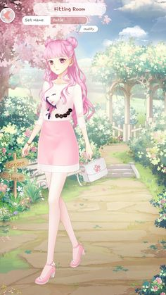 Anime Outfits, Girl Outfits, Dress Up Diary, Girls With Flowers, Arts And Crafts, Cute, Fashion Design, Clothes, Park