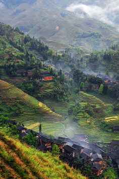 rice terraces + village, longsheng, china | travel destinations in east asia #wanderlust