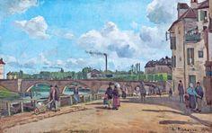 Camille Pissarro - Quai au Pothuis, Pontoise