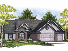 Ranch House Plan with 1847 Square Feet and 3 Bedrooms from Dream Home Source | House Plan Code DHSW52177