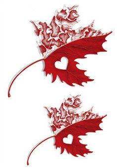 Set of 2 Waterproof Temporary Fake Tattoo Stickers Red Maple Leaf Design Body Art Make Up Tools *** You can find out more details at the link of the image. (This is an affiliate link) #TemporaryTattoos