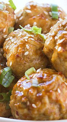 Spicy Asian Chicken Meatballs