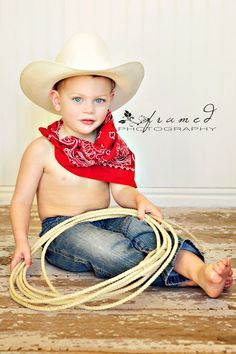 Little Cowboy...wish I would have thought of this...when my little cowboy was little. #cowboy