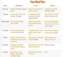 Weekly Meal Plan (Get Recipes of Bhindi Kadhi, Cheesy Pasta Casserole and more)
