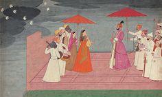 Musicians playing a raga for Raja Balwant Singh of Jasrota, ca. 1745-50, by Nainsukh. Rajasthan.