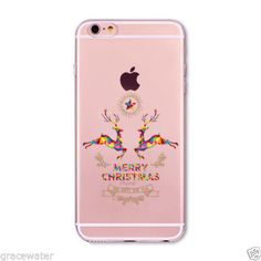 Lovely Christmas New Year Soft Phone Cover Case For iPhone 6 7 5 SE Present Dog Deer Animal Celular Iphone 5 6, Apple Iphone 6s Plus, Iphone Cases, Design Case, New Year Gifts, Skin So Soft, Animal Design, Phone Cover, Protective Cases