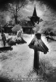 Graveyard, Village in The Carpathian Mountains, Romania  [Simon Marsden Archive]