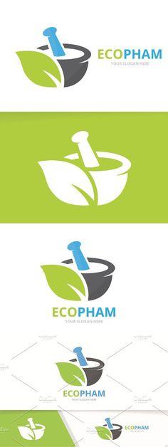 Vector pharmacy and leaf logo Sound Logo, Clock Sound, Design Logos, Tea Brands, Leaf Logo, Professional Logo Design, Pharmacy, Logo Templates, Interior Design