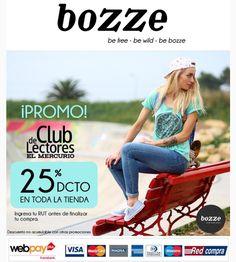 Seguimos con el 25% de descuento para el club de Lectores el mercurio. En TODA la tienda www.bozze.cl los esperamos! #bozzecl #domingo #llegoelverano