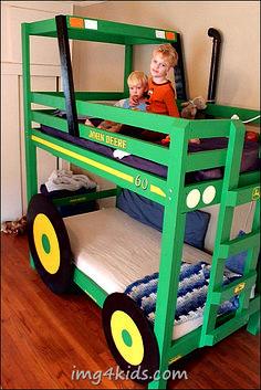 john deere bedding for toddler bed | ... DIY Tractor Bunk Beds For Your Boys - foto Bedding on Img4Kids.Com