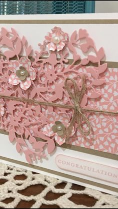 Bloomin heart Thinlit - Stampin Up. Created by Wendy at Perfectly Gorgeous Papercraft