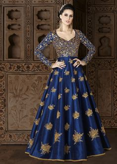Anarkali dress for women party wear readymade ,Buy Bollywood Designer Pakistani long anarkali gown jacket. Huge collection of anarkali suit available in different colors, patterns, designs & price ranges. Silk Anarkali Suits, Anarkali Gown, Salwar Suits, Saree Dress, Punjabi Suits, Cotton Anarkali, Long Anarkali, Saree Blouse, Indian Dresses