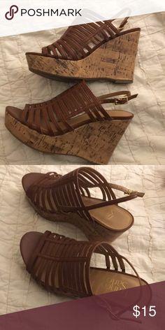 Cute brown wedge heels! Franco Sarto 7.5 brown wedge heels! Franco Sarto Shoes