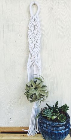 Handmade // Macrame plant hanger // plant hanger // macrame wall hanging// boho wall hanging // boho interiors // bohemian home decor  www.Lafortuneartisania.com @Lafortune_artisania