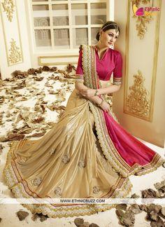 Vibrant Dark Pink Kasab Work Designer Saree