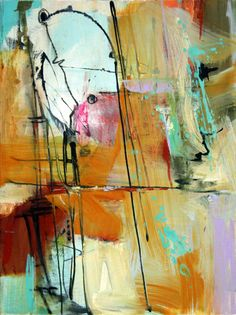 "Contemporary Painting - ""Going with the Flow #1"" (Original Art from Janet Wayte)"