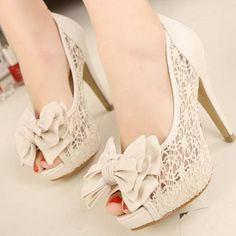 Lace shoes, really cute!