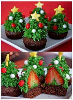 Yes, I know strawberries aren't in season during Christmas time in the Northern Hemisphere...but these things are still cute.