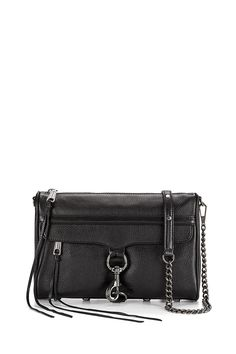 M.A.C. Crossbody - The M.A.C. (Morning After Clutch) boasts roomy but compact style, perfect for the vital tidbits you can't live without. The luxury of a Rebecca Minkoff handbag, but small enough for your hurried days (or nights) on the town.