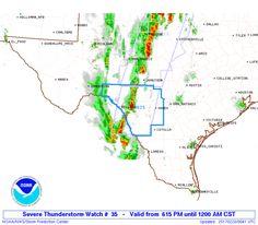 SPC Severe Thunderstorm Watch 35 - http://blog.clairepeetz.com/spc-severe-thunderstorm-watch-35/
