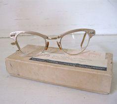 Vintage Cateye Glasses Ladies Pink by Fishlegs on Etsy