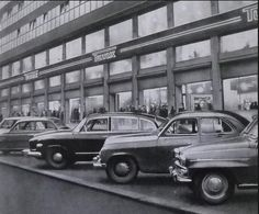 Screen Shot at Czech Republic, Prague, Vintage Images, Screen Shot, Techno, Black And White, Cars, Retro, Historia