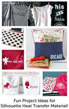 Fun project ideas that use Silhouette Heat Transfer material.