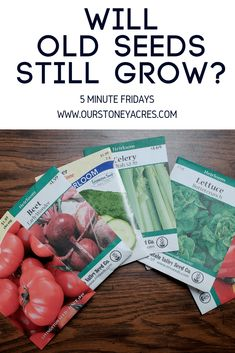 Will Old Seeds still grow? The general answer for this question is yes, assuming the seeds are less than 5 years old. Learn more about seed storage here. Hydroponic Gardening, Hydroponics, Container Gardening, Organic Gardening, Indoor Gardening, Garden Seeds, Planting Seeds, Fruit Garden, Gardening For Beginners