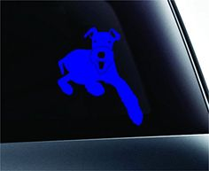Airedale Terrier Dog Symbol Decal Funny Car Truck Sticker Window (Blue) ExpressDecor http://www.amazon.com/dp/B00S01889G/ref=cm_sw_r_pi_dp_WDYRub149SDD7