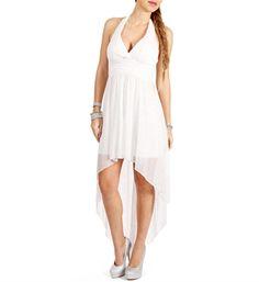 Marlene-White/Silver Glitter Mesh Dress