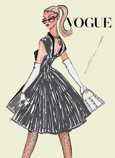 Vogue, Fashion Illustration Magazine Cover