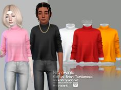 The Sims 4 Kid Uni Brian Turtleneck Toddler Cc Sims 4, Sims 4 Toddler Clothes, Sims 4 Cc Kids Clothing, Sims 4 Teen, Sims Four, Sims 4 Mods Clothes, Sims 4 Mm, Kids Clothes Boys, Teen Clothing