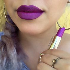 Instagram user @glambymeli is looking fabulous in Milani Color Statement Lipstick in Violet Volt.