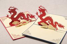 Dier thema dragon handgemaakte 3d pop up wenskaarten voor verjaardag & gift wenskaarten gratis verzending in New Laser Cut Cupid Love Heart Handmade 3D Greeting Card Pop Up Cards With Free Envelop Red Wedding Gift For Guest Retai van wenskaarten op AliExpress.com   Alibaba Groep