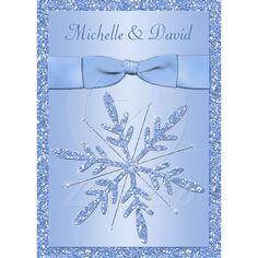Ice Blue Snowflakes Wedding Invitation from Zazzle.com