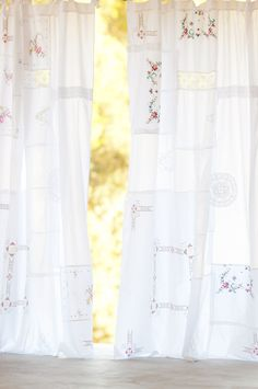 beautiful patchwork embroidered curtain