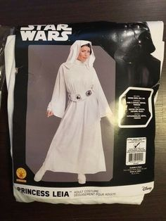b4184f376 Star Wars Princess Leia Hooded White Fancy Dress Up Adult Costume Extra  Small #fashion #