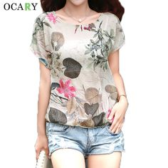 Cheap blouse xxxl, Buy Quality blouse flower directly from China blouses and shirts Suppliers: Elegant Floral Print Blouse Cotton Linen Women Shirts Summer Ladies Tops Casual Camisa Loose Chemise Femme Plus Size Blusa Mujer