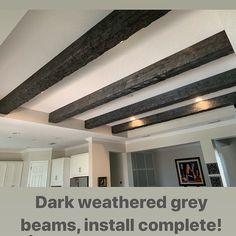 Exposed Wood Beams Made to Order Wood Ceilings, Ceiling Beams, Rustic Fireplace Mantels, Stone Fireplaces, Weathered Wood, Distressed Wood, Wood Floating Shelves, Exposed Beams, Ceiling Design