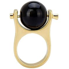 Yoins Yoins Ring ($6.15) ❤ liked on Polyvore featuring jewelry, rings, black, black jewelry, kohl jewelry, ball ring, black ring and ball jewelry