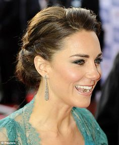 Duchess of Cambridge Kate Middleton Romantic classic Braided Knotted Chignon-Bun Updo Hairstyle 2012 Pictures