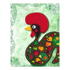 Typical Rooster of Barcelos Custom Letterhead