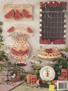 Watermelon Wedges and Rustic Edges by Lorinne Thurlow Decorative Painting Book - 2