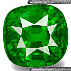 1.30-Carat Cushion-Cut Rich Chrome Green Kenyan Tsavorite