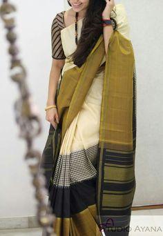 Cotton Saree Designs, Silk Kurti Designs, Silk Saree Blouse Designs, Fancy Blouse Designs, Silk Saree Kanchipuram, Modern Saree, Saree Trends, Indian Designer Sarees, Stylish Sarees