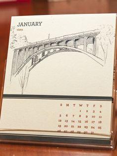 Bridgetown Desktop Calendar | shopfolio pdx