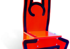 Keith Haring - Wooden Child's Chair (Red)