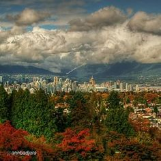 By @annbadjura Since I haven't been out and about with my camera recently I would like to share this photo I took last fall from Queen Elizabeth Park with abeautiful view of downtown Vancouver, BC, Canada. Thank you so much to all of you for stopping by