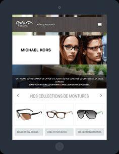 Our new realisation : Opto-Réseau. Portfolio Website Design, Michael Kors, Clinique, Web Development, Digital Marketing
