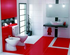 Red is a great choice of color for modern interior design. Red is the color of blood and fire and represents life and vitality. It is a great color for bathroom interior, but we would suggest using it only as an accent in your bathroom. In this post we will give you a few ideas about contemporary bathroom design in red and white. www.floatproject.org